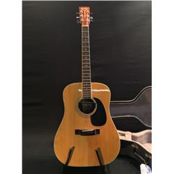 NORTHERN NW-75 ACOUSTIC/ELECTRIC GUITAR WITH DEAN MARKLEY ZH-7 PICKUP, MADE IN JAPAN, COMES WITH