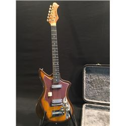 "HARMONY BY INTER-MARK ELECTRIC GUITAR, MADE IN JAPAN, MARKED ON TRUSS ROD COVER: ""-DETACHABLE -"