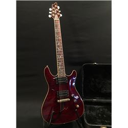IBANEZ ELECTRIC GUITAR, NO MODEL NUMBER, TWO VOLUME AND ONE TONE KNOB, THREE POSITION PICKUP