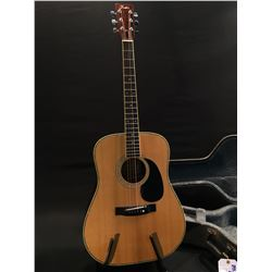 FENDER MODEL F-65 ACOUSTIC GUITAR, COMES WITH HARD SHELL CASE