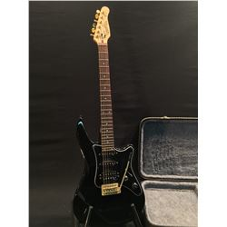 GODIN G1000 STRAT STYLE ELECTRIC GUITAR WITH ONE HUMBUCKER AND TWO SINGLE COIL PICKUPS, 4 POSITION