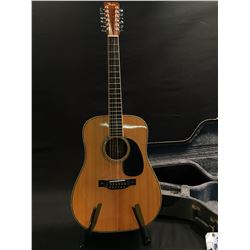 FENDER MODEL F-80-12 12 STRING ACOUSTIC GUITAR, COMES WITH HARD SHELL CASE