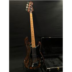 VINTAGE UNIVOX BICENTENNIAL 1976 LIMITED EDITION CUSTOM EAGLE CARVED J-BASS TYLE BASS GUITAR,
