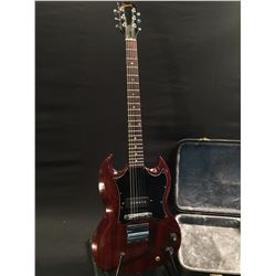 GIBSON 1969 SG JUNIOR ELECTRIC GUITAR, MADE IN USA HAS ORIGINAL VIBRATO TAILPIECE, MISSING ARM, CHER