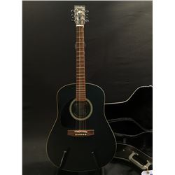 ART LUTHERIE MODEL WILD CHERRY LEFT HANDED ACOUSTIC GUITAR, MADE IN CANADA, SERIAL NUMBER 02313339,