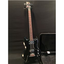 GIBSON SG BASS, MADE IN USA, 2011, SERIAL NUMBER 103810439, GIBSON SG LEAD AND RHYTHM BASS PICKUPS,