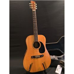 HOPKINS HAND CRAFTED ACOUSTIC/ELECTRIC GUITAR, MADE IN BRANTFORD, ONTARIO IN OCTOBER, 1984, BACK