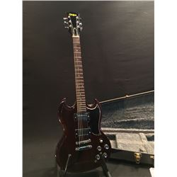EL DEGAS SG STYLE ELECTRIC GUITAR, MADE IN JAPAN, WITH TWO HUMBUCKER PICKUPS, 3 POSITION PICKUP
