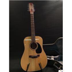 TAKAMINE MODEL EF385 12 STRING ACOUSTIC ELECTRIC GUITAR, SERIAL NUMBER 99071233, COMES WITH HARD