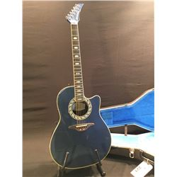 OVATION MODEL 1989-8 ACOUSTIC/ELECTRIC COMPOSITE CURVED BACK GUITAR, SERIAL NUMBER 509,