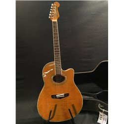 FENDER MONTARA ACOUSTIC/ELECTRIC GUITAR, SERIAL NUMBER 9643566, COMES WITH HARD SHELL CASE