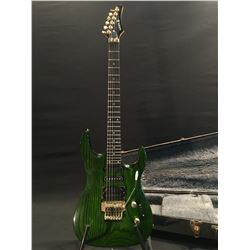 SAMICK ELECTRIC GUITAR WITH FLOYD ROSE VIBRATO BRIDGE, LOCKING NUT, SINGLE, HUMBUCKER, AND DUAL