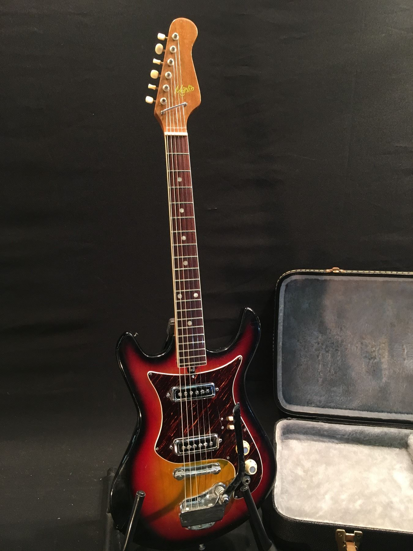 Marlin Electric Guitar With Two Single Coil Idol Pa25 Pickups Humbucker 1 Vol Tone No Switching Image