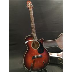 TAKAMINE MODEL EF291M(BS) ACOUSTIC/ELECTRIC GUITAR, MADE IN JAPAN, SERIAL NUMBER 94060375, COMES