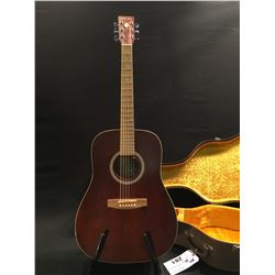ART & LUTHERIE WILD CHERRY MODEL ACOUSTIC GUITAR, MADE IN QUEBEC, CANADA, SERIAL NUMBER 99353211,