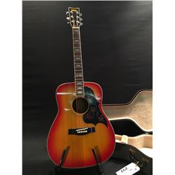 YAMAHA MODEL FG-351SB ACOUSTIC GUITAR, SERIAL NUMBER 1307133, COMES WITH HARD SHELL CASE