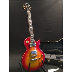 EPIPHONE LES PAUL, WITH TWO HUMBUCKER PICKUPS, TWO TONE AND TWO VOLUME CONTROLS, HAS PICKGUARD,