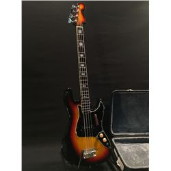 NO NAME 4 STRING P-BASS STYLE BASS GUITAR, MADE IN JAPAN, ONE TONE AND ONE VOLUME CONTROL, PASSIVE,