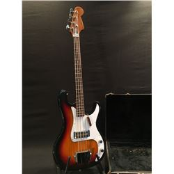 NO NAME 4 STRING P-BASS STYLE BASS GUITAR, MADE IN JAPAN, WITH SINGLE TULIO EB2 8.8K BASS PICKUP,
