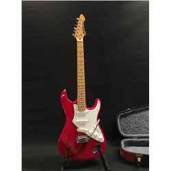 ARIA PRO II SERIES FULLERTON STRAT STYLE ELECTRIC GUITAR, WITH THREE SINGLE COIL PICKUPS, AND