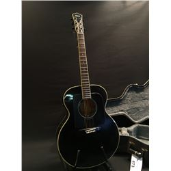 YAMAHA MODEL FJ-681 ACOUSTIC ELECTRIC GUITAR, COMES WITH HARD SHELL CASE