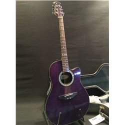 OVATION CELEBRITY MODEL CK 056 ACOUSTIC/ELECTRIC GUITAR, WITH CURVED COMPOSITE BACK, COMES WITH