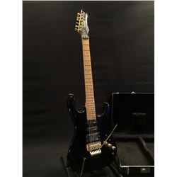VANTAGE 118GDT STRAT STYLE ELECTRIC GUITAR, WITH HUMBUCKER PICKUP, TWO SINGLE COIL PICKUPS, FLOYD