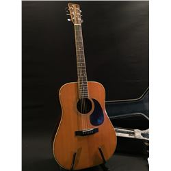 HOHNER MODEL HGS10 ACOUSTIC GUITAR, MADE IN JAPAN, SERIAL NUMBER 6046211, COMES WITH HARD SHELL