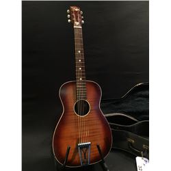 REGAL PARLOUR STYLE ACOUSTIC GUITAR, MADE IN USA, MODEL F-66 AP, STAMPED ON INSIDE OF SOUND HOLE,