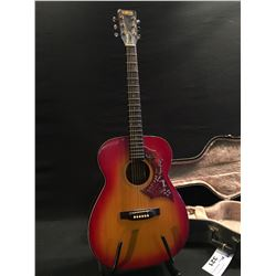 RAVEN MODEL A-203Y ACOUSTIC GUITAR, COMES WITH HARD SHELL CASE