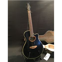 SIGMA MODEL SEA 4B CUTAWAY ACOUSTIC/ELECTRIC GUITAR, SERIAL NUMBER 8910012, COMES WITH HARD SHELL