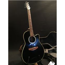 OVATION APPLAUSE MODEL AE 28 COMPOSITE CURVED BACK ACOUSTIC/ELECTRIC GUITAR, COMES WITH HARD SHELL