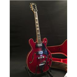 RAVEN HOLLOWBODY ELECTRIC GUITAR, WITH BIGSBY STYLE VIBRATO BRIDGE, TWO GRECO ER180 HUMBUCKER