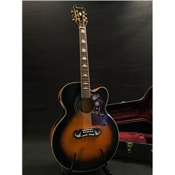 EPIPHONE MODEL EJ-200SCE-VS ACOUSTIC/ELECTRIC GUITAR, WITH SHADOW NANOMAG PICKUP, COMES WITH HARD