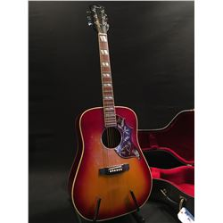 """PEARL ACOUSTIC GUITAR, D35/45 COPY, """"PEARL GUITAR - FOLK - MADE BY HAYASHI"""" STAMPED ON INSIDE OF"""
