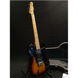 SQUIER TELECASTER CUSTOM GUITAR, BY FENDER, WITH NECK POSITION HUMBUCKER, AND DUNCAN DESIGN