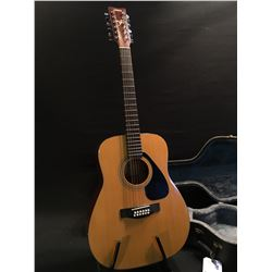 YAMAHA FG-412-12 12 STRING ACOUSTIC GUITAR, COMES WITH HARD SHELL CASE
