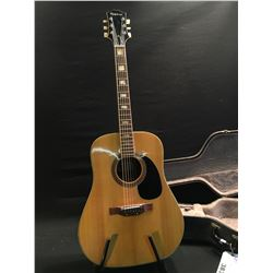 VINTAGE EPIPHONE MODEL 6830E ACOUSTIC GUITAR, MADE IN JAPAN, SERIAL NUMBER 135394, COMES WITH HARD