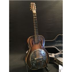 NO NAME, VERY OLD, RESONATOR GUITAR, NO MARKINGS, BRAND, SERIAL NUMBER OR ANY INFORMATION AT ALL,