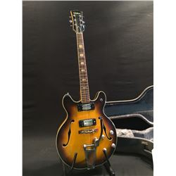VENTURA HOLLOW BODY ELECTRIC GUITAR,  MADE IN JAPAN, LIKELY FROM 1960S, WITH TWO HUMBUCKER PICKUPS,