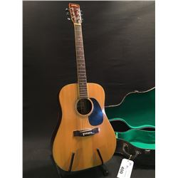 K. SUZUKI CO. MODEL W300 ACOUSTIC GUITAR, MADE IN JAPAN, SERIAL NUMBER 38035, FROM LATE 1970S,