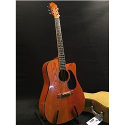 SEGOVIA MODEL DC70AAN ACOUSTIC GUITAR, COMES WITH HARD SHELL CASE