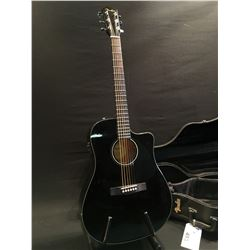 FENDER MODEL CD-60E BK-DS-V2 ACOUSTIC/ELECTRIC GUITAR, COMES WITH HARD SHELL CASE