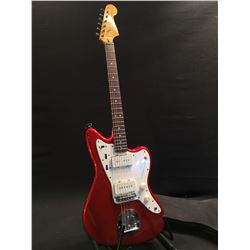 SQUIER JAZZMASTER GUITAR, WITH TWO DUNCAN DESIGN P90 STYLE PICKUPS, STANDARD JAZZMASTER STYLE