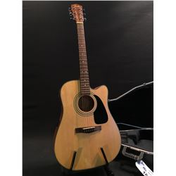 FENDER MODEL DG-10CE NS ACOUSTIC/ELECTRIC GUITAR, COMES WITH HARD SHELL CASE