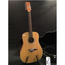DEAN TRANSITION S12 GN 12 STRING ACOUSTIC GUITAR, COMES WITH HARD SHELL CASE