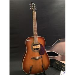 VINTAGE ACOUSTIC/ELECTRIC GUITAR, WITH DEAN MARKLEY PROMAG PLUS PICKUP, COMES WITH HARD SHELL CASE