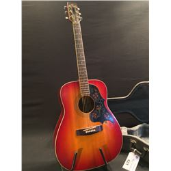 YAMAHA MODEL FG-295 ACOUSTIC GUITAR, MADE BY NIPPON GAKKI CO. IN JAPAN, SERIAL NUMBER 50110, COMES