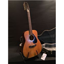 YAMAHA FG-210-1 12 STRING ACOUSTIC GUITAR, COMES WITH HARD SHELL CASE