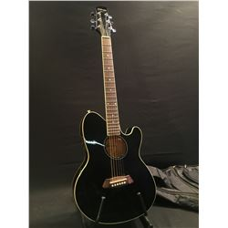 TALMAN INTER CITY BY INBANEZ OFFSET BODY CUTAWAY ACOUSTIC/ELECTRIC GUITAR, COMES WITH SOFT SHELL